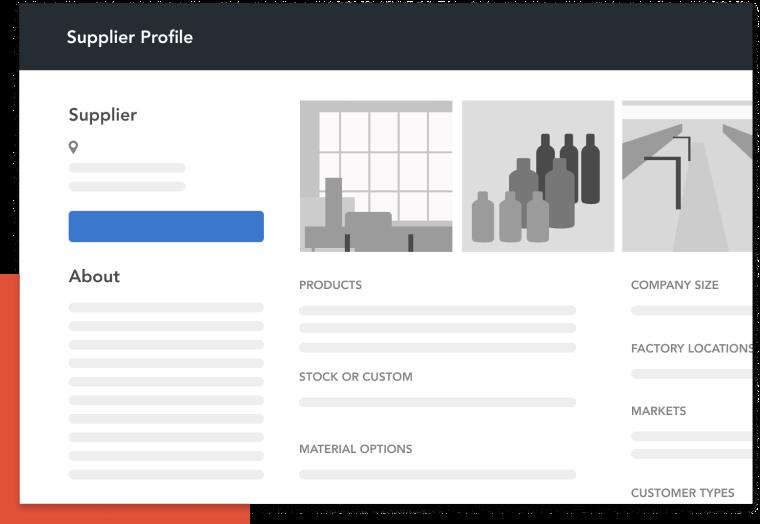 Build your supplier profile